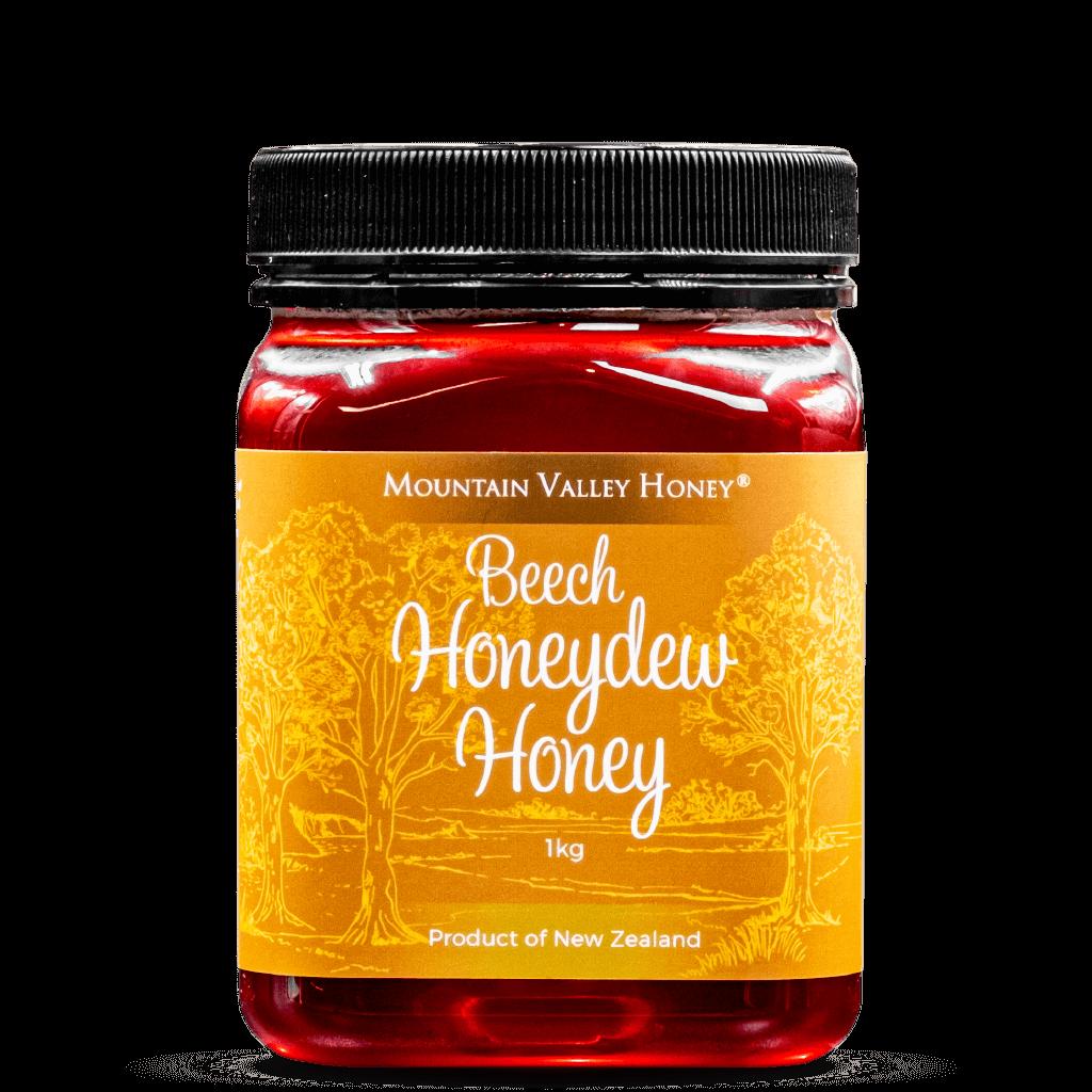 Beech Honeydew Honey Plastic Jar 1kg Raw & Unpasteurised NZ Honey